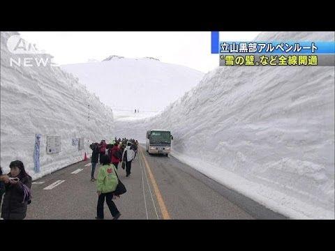 なんと壁の高さは15m以上!【雪の大谷】