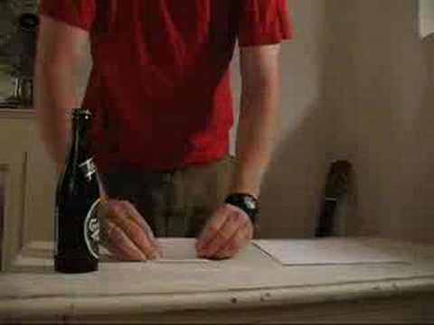 紙でビール瓶の栓を抜く方法!