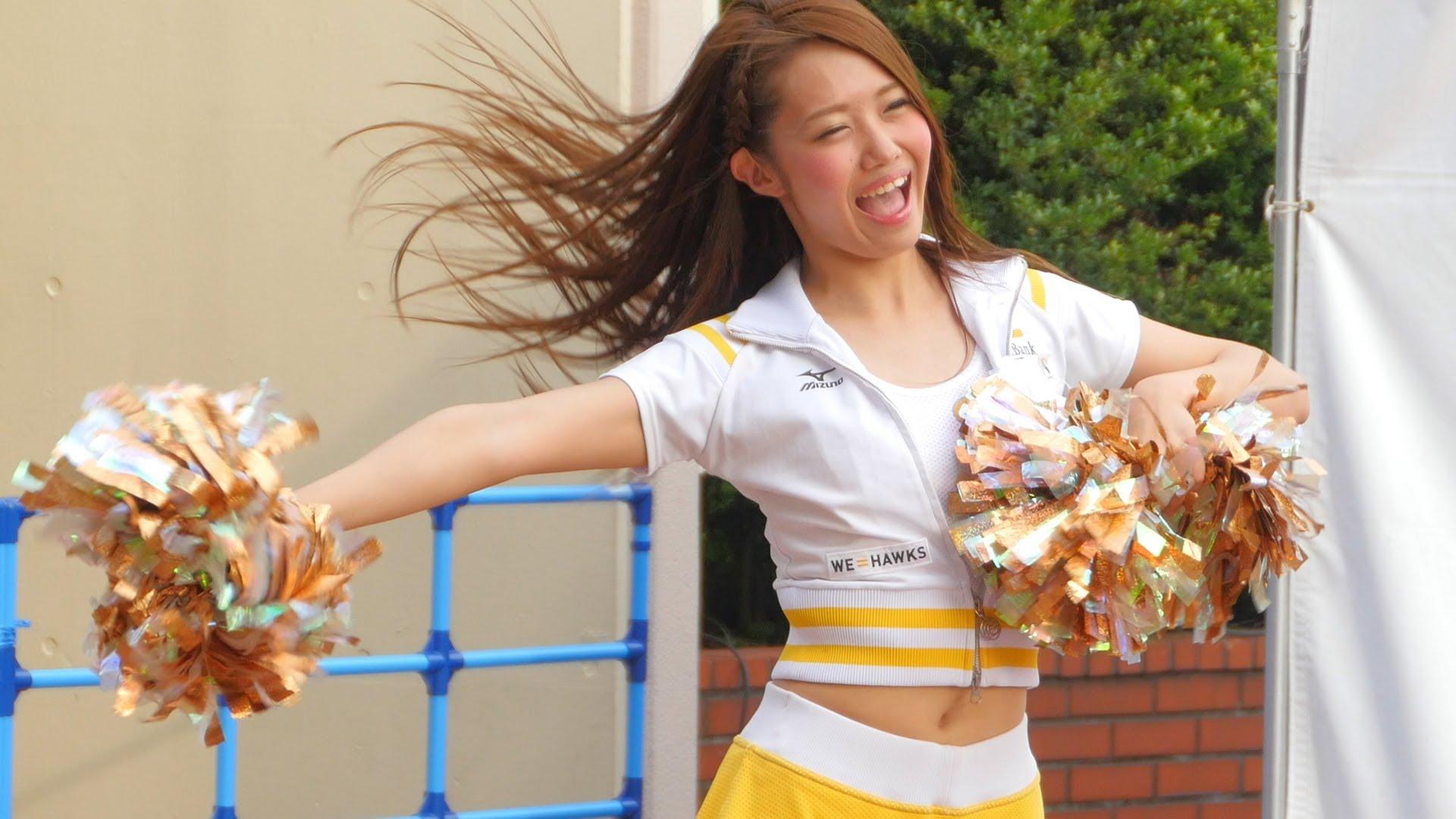 【超ミニスカ】福岡ソフトバンクホークス公式チアチーム 【ハニーズ】