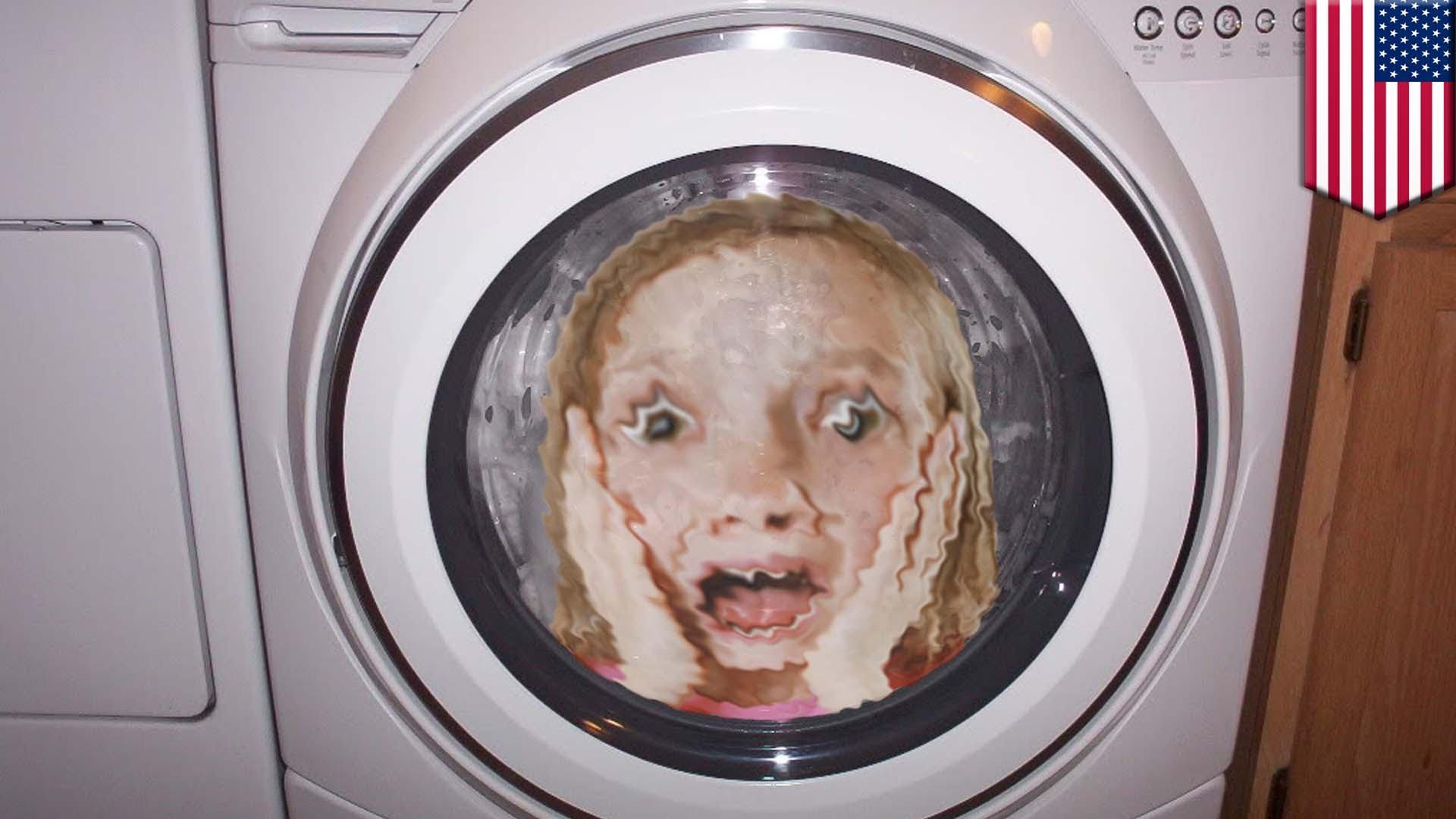 【危機一髪!】5歳女児が洗濯機で回され入院