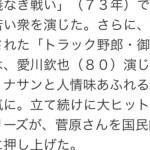 【訃報】菅原文太さん(81)が死去