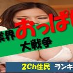 AV女優のおっぱいランキング!