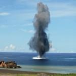 【海上自衛】機雷の爆破処理訓練動画