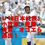 第27回U18(18歳以下)W杯に出場する高校日本代表20人発表!