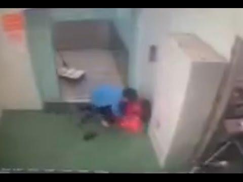 中国人の工場内レイプ未遂現場の衝撃映像!