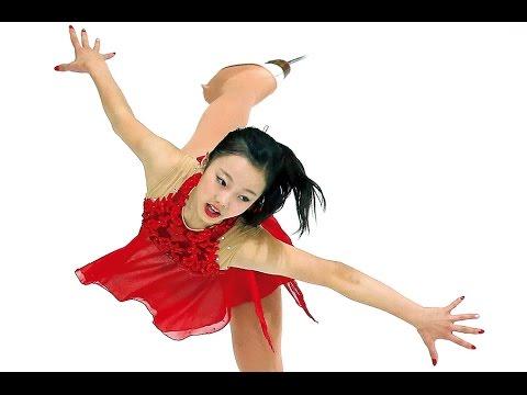 世界Jr初優勝!本田真凜の可憐なフィギュアスケート動画