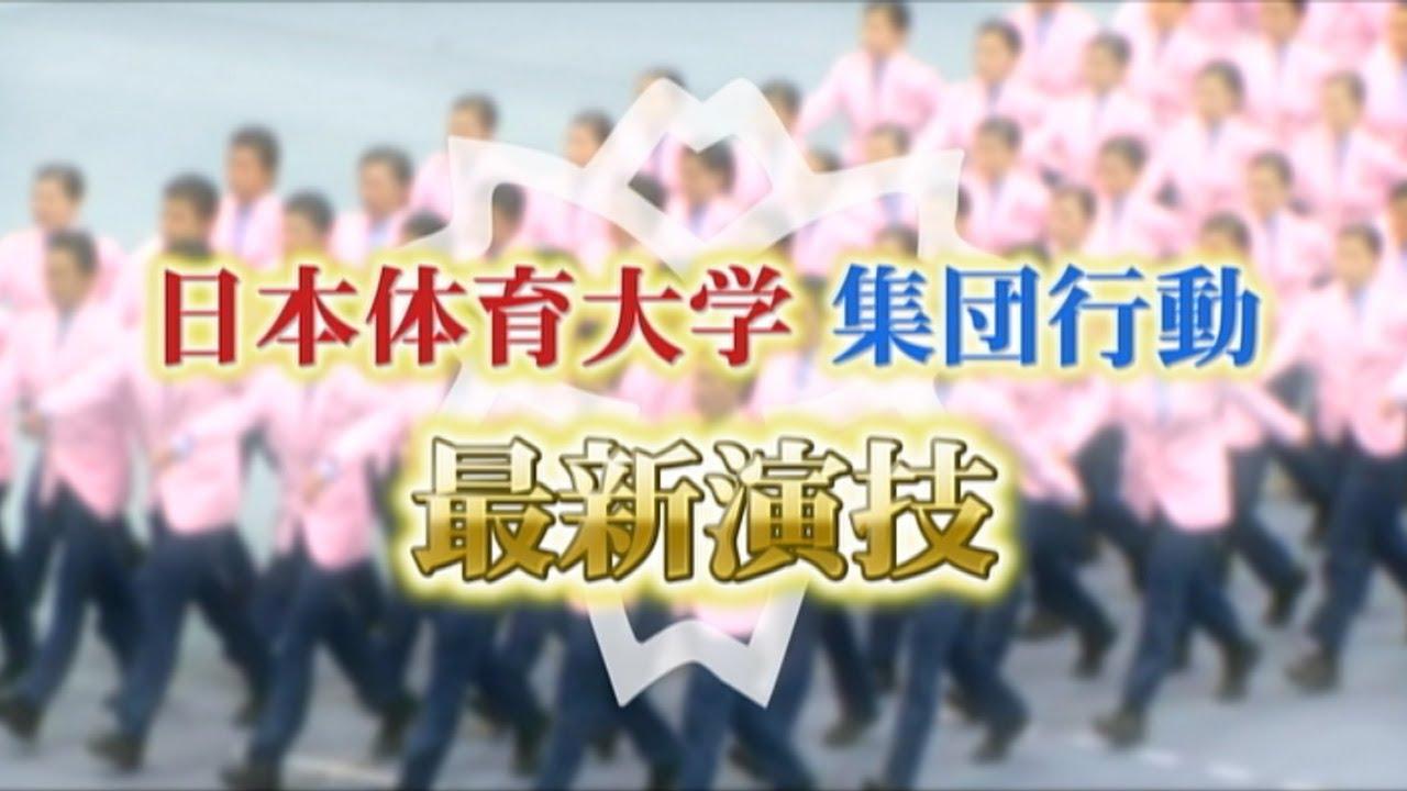 行ってQで女芸人ともコラボ!日体大の集団行動演技
