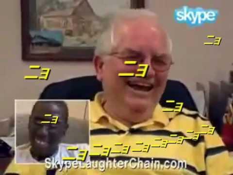 「ニョニョニョ」と笑うおじさん