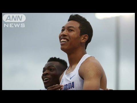 サニブラウン選手100m驚異の9秒99!