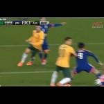 日本代表VSオーストラリア 岡崎ヒールでおしゃれなゴールを決める!