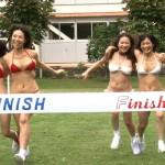 Hカップ美女の運動会!(おっぱい揺れます)