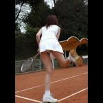 テニス女子のパンチラ!