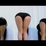 美女3人のセクシーなおしり振りダンス!