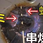 【閲覧注意】セミを串焼きにして食べてみた・・・