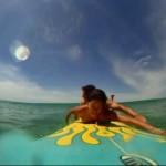 タンデム(二人乗り)サーフィン