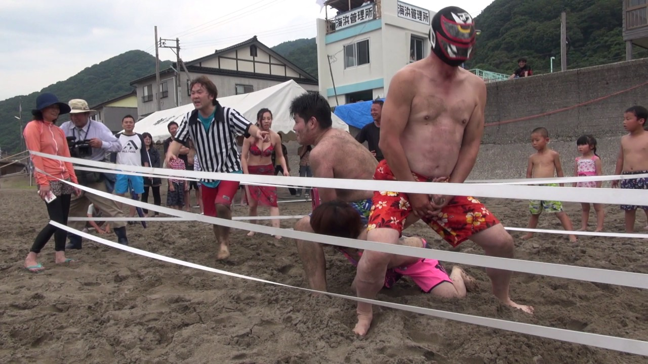 信州プロレス 海水浴場マッチ!